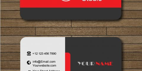 Business Card With Red and Black Combination Vector 25