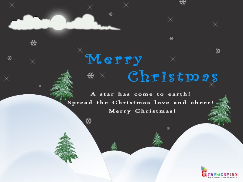 Beautiful Merry Christmas Greeting JPG and PSD 7
