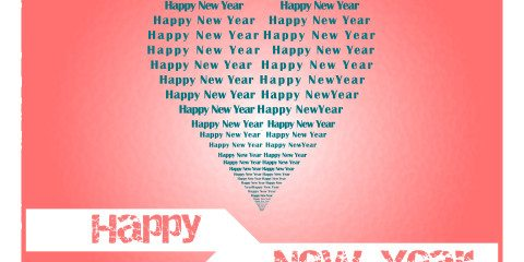 New Year Greeting in Love JPG and Vector 3