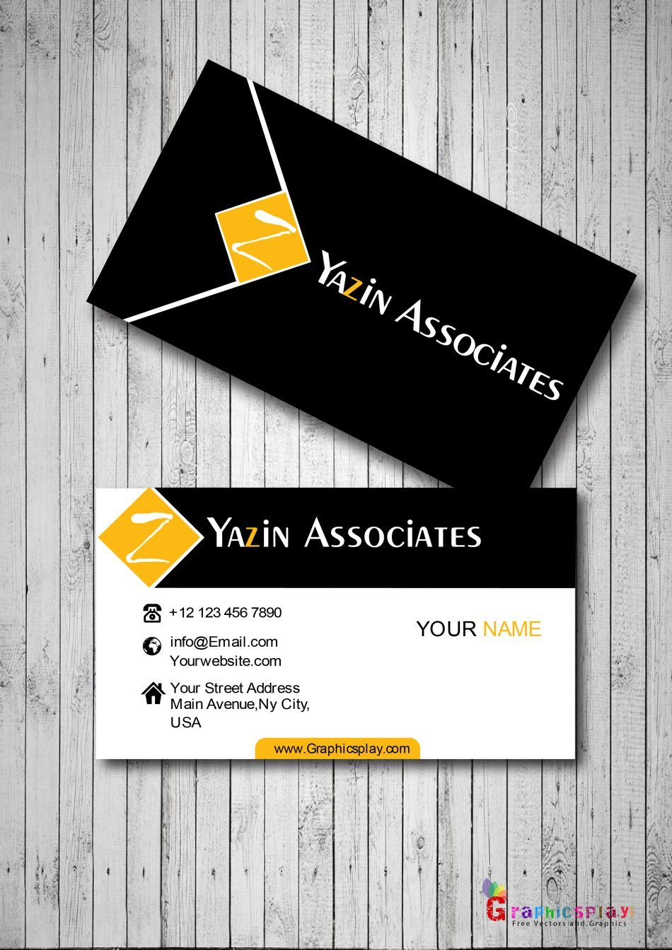 Beautiful Business Card With Great Color Combination Vector 1