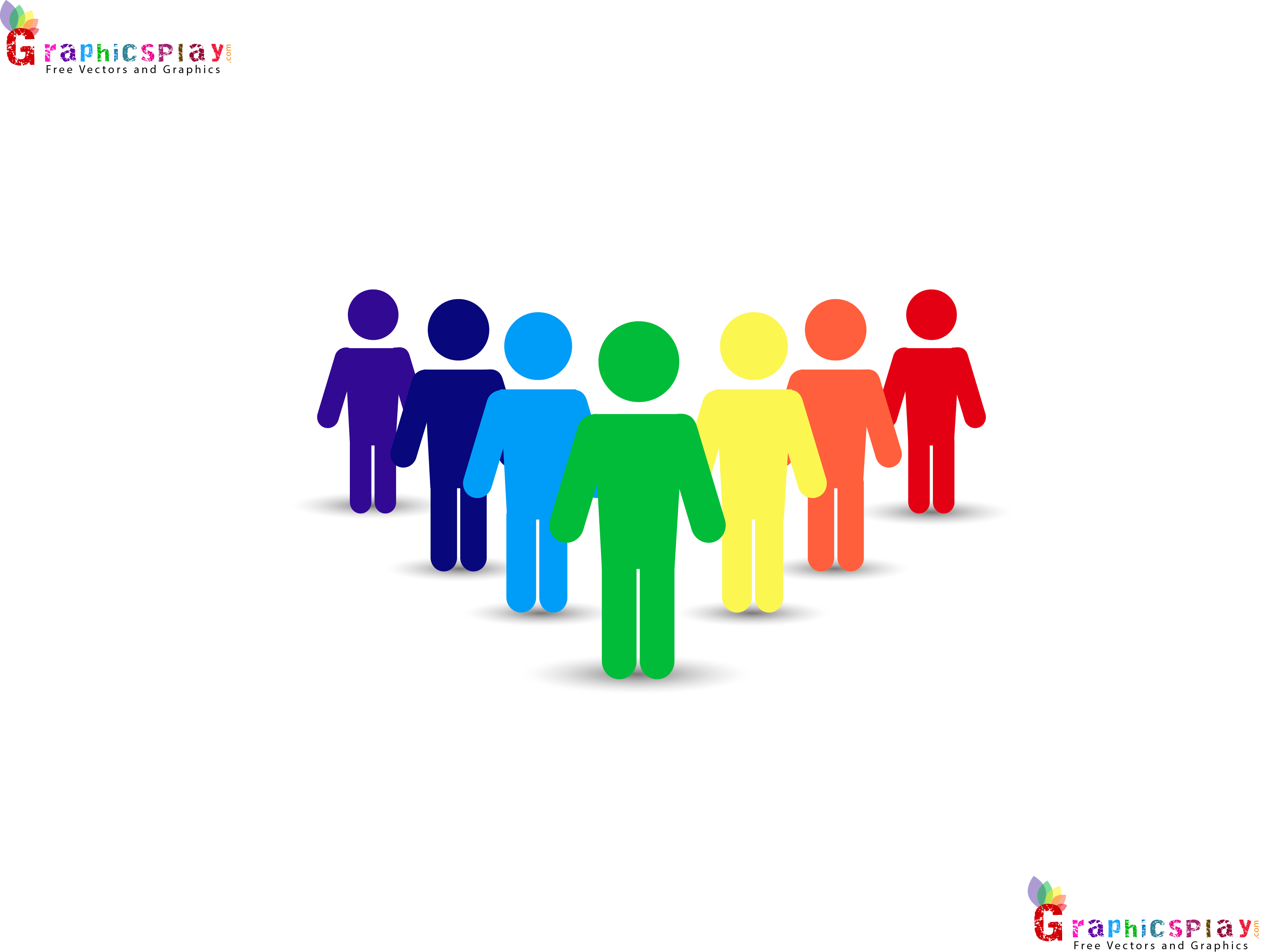 Colorful Standing Men PNG and Vector 10