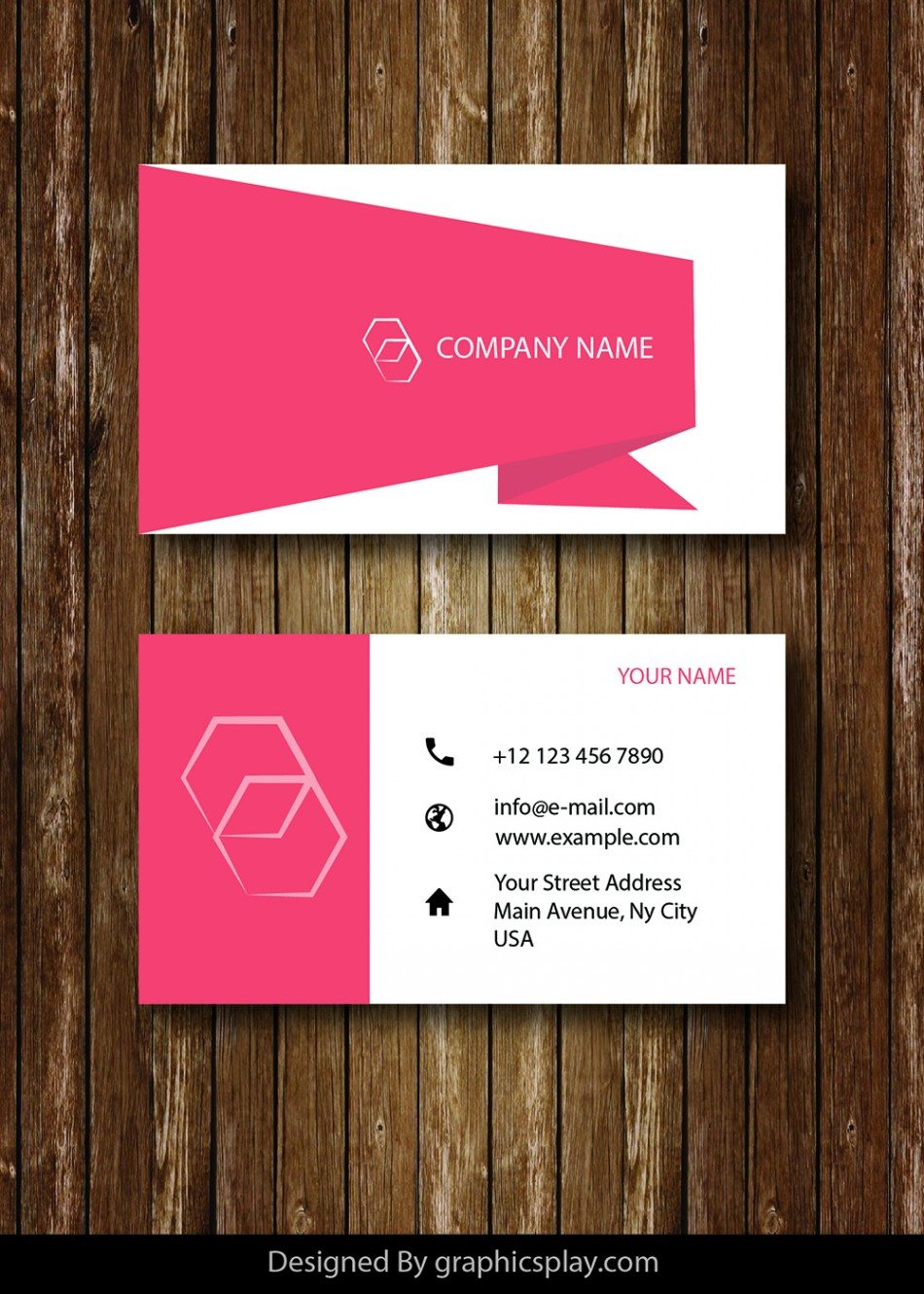 Business Card Design Vector Template - ID 1689 1