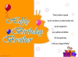 Happy Birthday Brother Greeting with Quotes 13
