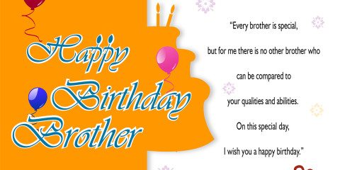 Happy Birthday Brother Greeting with Quotes 2