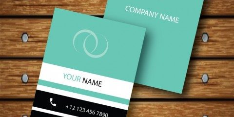Vertical Business Card Design Vector Template - ID 1736 29