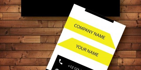 Vertical Business Card Design Vector Template- ID 1742 7
