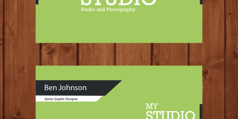 Beautiful Green Business card 8