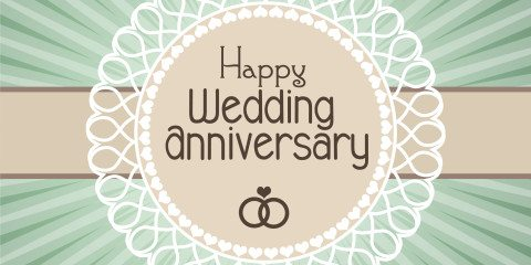 Happy Wedding Anniversary Simple Greeting 8