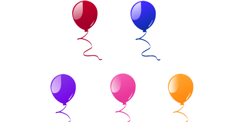Beautiful Balloon Vector and PNG 24