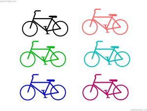 Simple Bicycle PNG and Vector 3