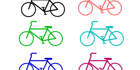 Simple Bicycle PNG and Vector 7
