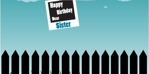 Happy Birthday Dear Sister Greeting 3