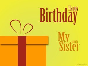Happy Birthday My Sister Greeting 20