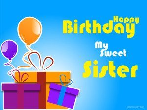 Happy Birthday Sweet Sister Greeting 18
