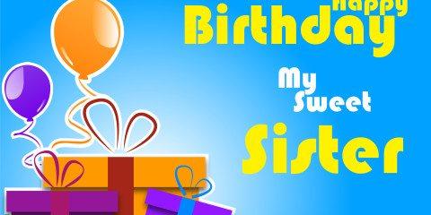 Happy Birthday Sweet Sister Greeting 8