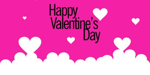 Happy Valentines Day Greeting Pink 5