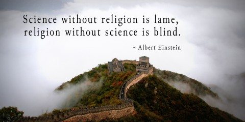 Albert Einstein's Quote about Science and Religion 12